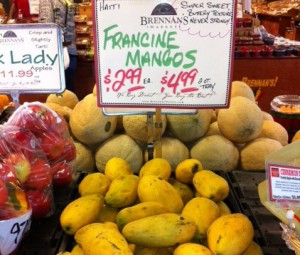 Mango consumption continues to increase in developed countries, and mangos from Haiti are high quality. They are popular at U.S. markets, including Brennan's Market in Madison, Wisconsin.