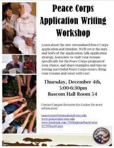 Peace Corps App Writing
