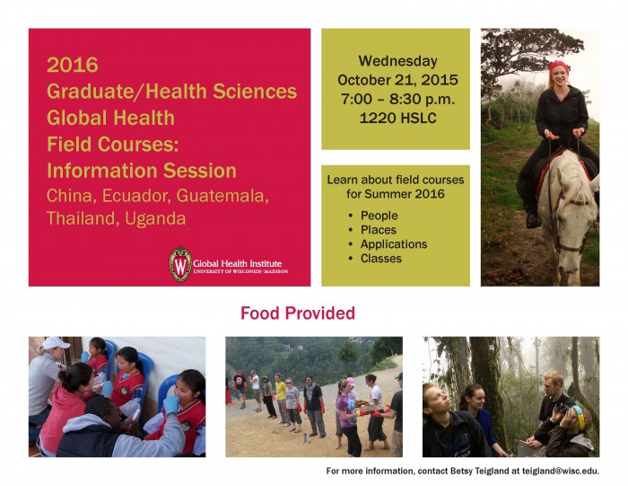 Global Health Field Experience Info Session-2016 -2