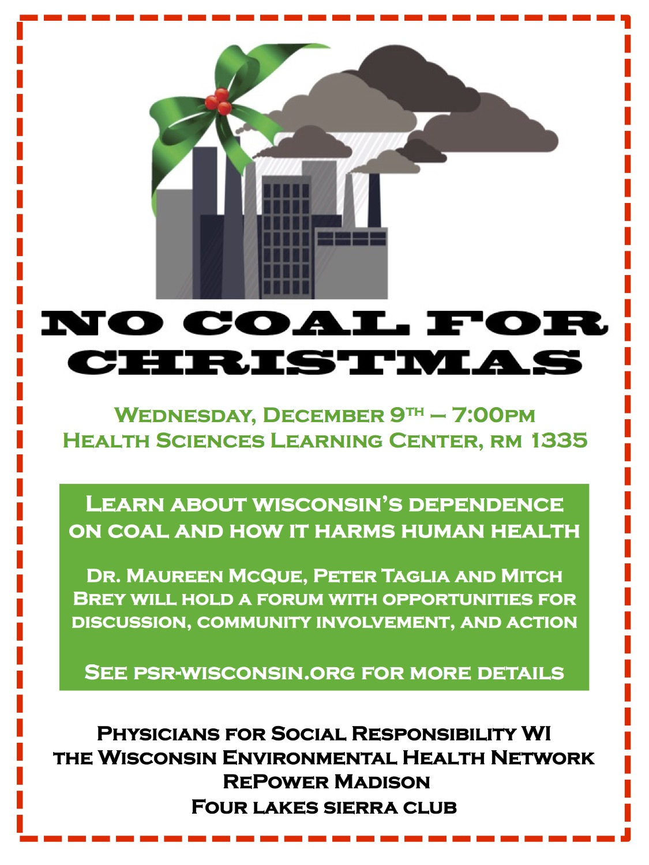 Coal event poster
