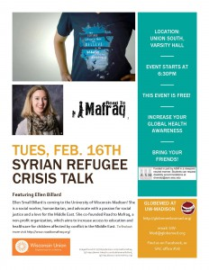 Syria Refugee Crisis Talk by Ellen Billard-2