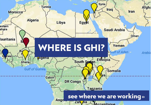 Map of locations where GHI works
