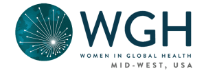 The logo for Women in Global Health Mid-West