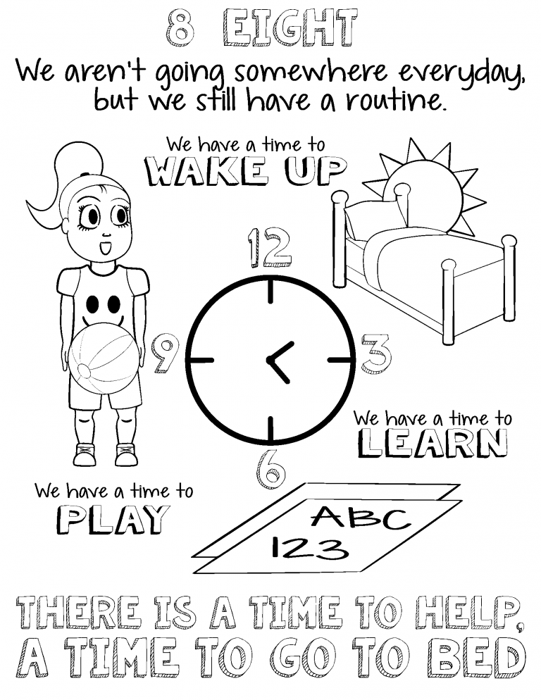 A girl with a ball looks at her daily routine